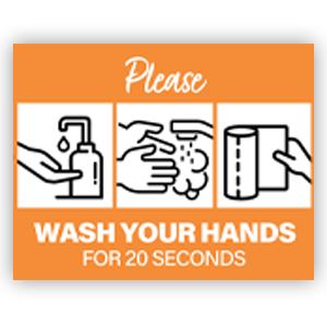 Picture of 14x11 General Wash Hands Orange
