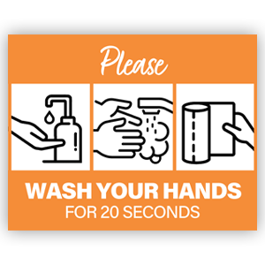 Picture of 14x11 Photo Wash Hands Orange