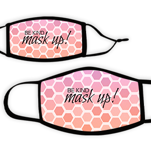 Picture of Hex pinkcoral Maskup Face Mask
