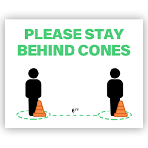 Picture of 14x11 School Cones Green