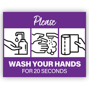 Picture of 14x11 Photo Wash Hands Purple