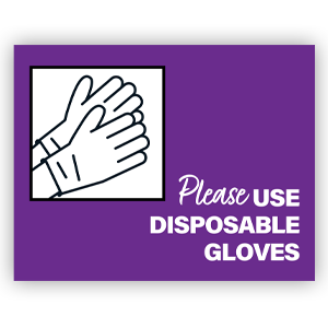 Picture of 14x11 General Gloves Purple