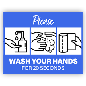 Picture of 14x11 General Wash Hands Blue