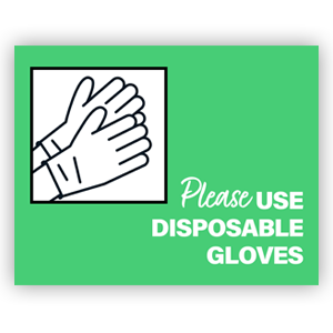 Picture of 14x11 General Gloves Green