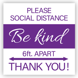 Picture of 16x16 Be Kind Thank You Purple